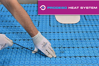Prodeso floor heating membrance, cable and logo.